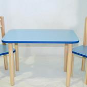 Детский комплект стол 40х60, высота 50 см и стул