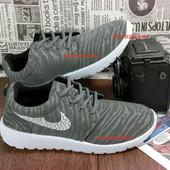 Мужские кроссовки только 40 и 41 размер в стиле Nike Roshe Run серые .