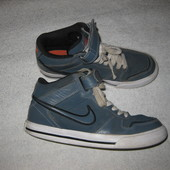 23 см стелька, высокие кожаные крутецкие кроссовки Nike