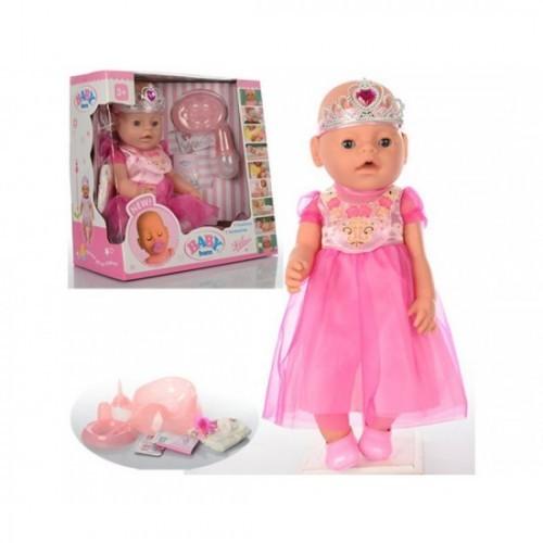 Куклу baby born c аксессуарами и одежда для пупсиков, с ресничками и глазки закрываются фото №1