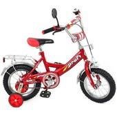 Доставка! Гарантия! велосипед Profi тrike P1241, колёса 12 дюймов, цвет красный