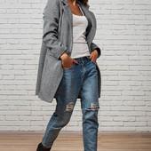Пальто в стиле Бой-Френд Твид. Размер: 42, 44, 46, 48. (1