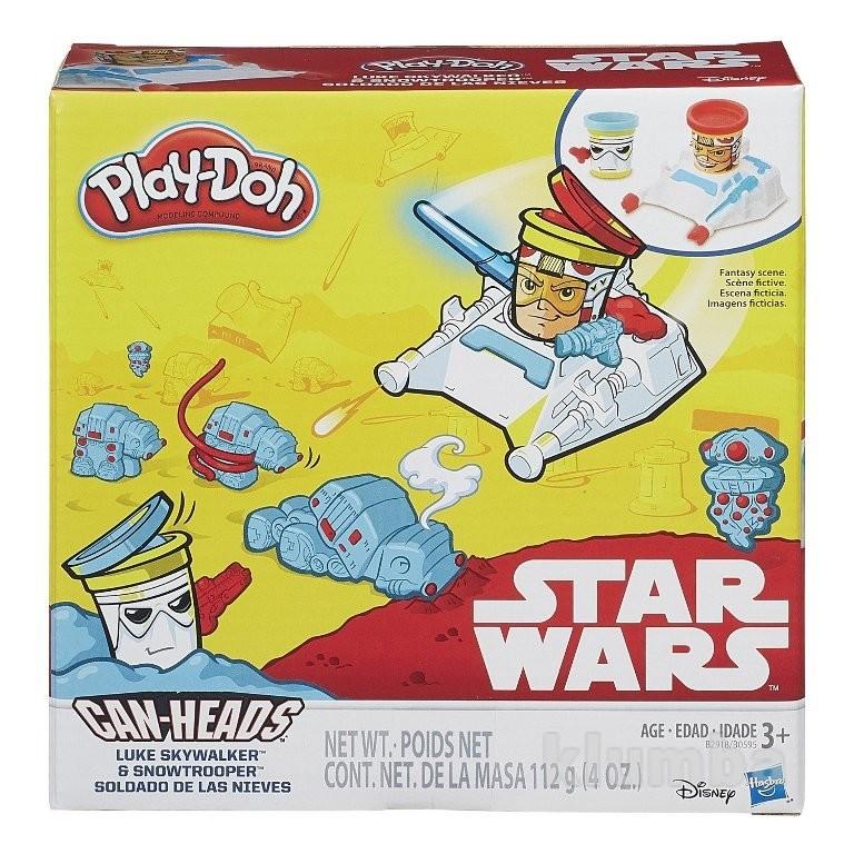 Play-doh star wars luke skywalker and snowtrooper пластилин звездные воины битва при хоте фото №1