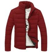 Дутая куртка без капюшона,чёрная и бордо,размер: M L хL 2XL (2з