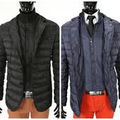 Мужская стеганая демисезонная куртка пиджак