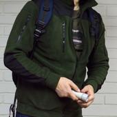 Тактическая флисовая куртка: М, L, хL,2хL.(2з