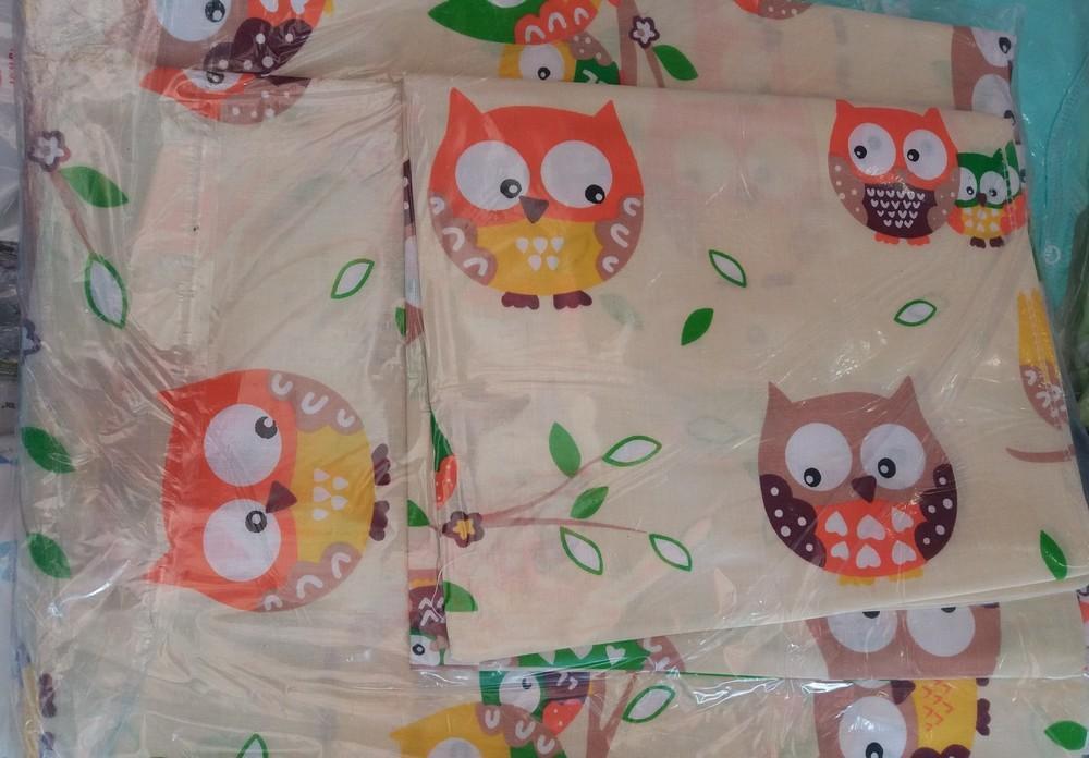 Детское постельное белье в кроватку:простынь,пододеяльник,наволочка фото №1