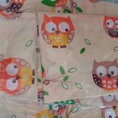 Детское постельное белье в кроватку:простынь,пододеяльник,наволочка