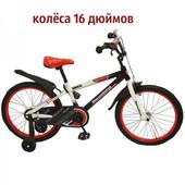 Доставка! гарантия! велосипед от 4 лет, Rueda Barcelona, колёса 16 дюймов, цвет красный