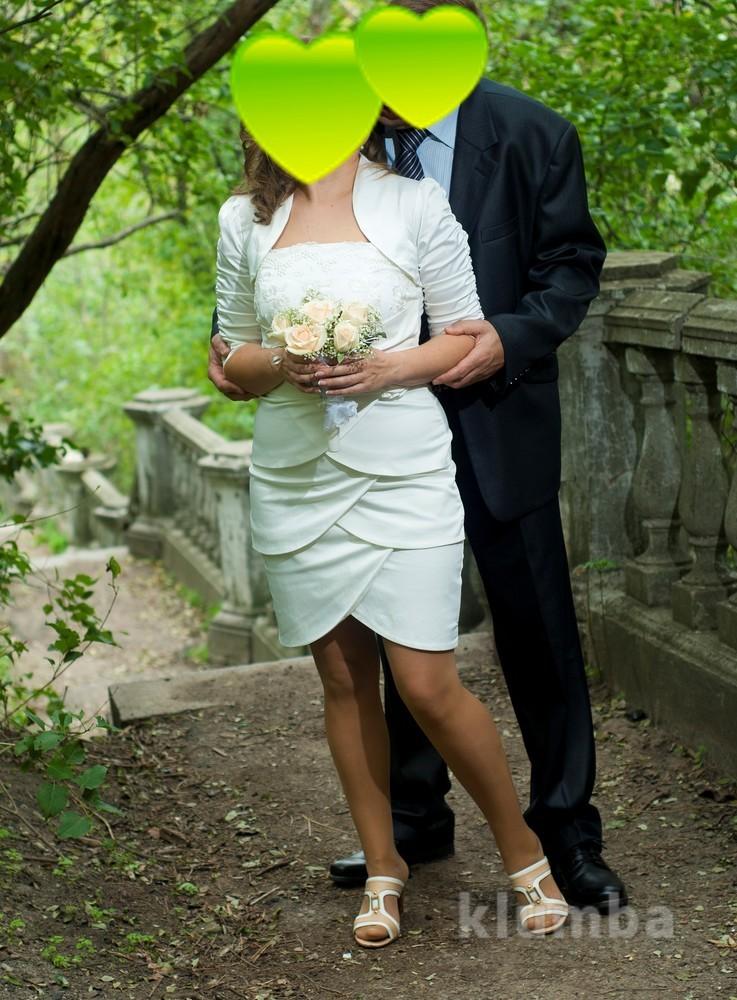 Нарядное коктейльное платье + рукава фото №1
