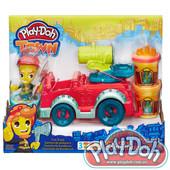 +ВидеоОбзор! Оригинал! игровой набор пластилина Город, пожарная машина Play-doh (в3416) плей до