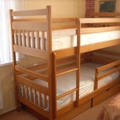 Двухъярусная кровать Анжела-Люкс полный комплект. Высший сорт дерева!!