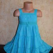 платье M&S 3-4 года
