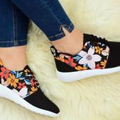 Женские кроссовки для бега и ходьбы с цветами