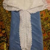 Одеяло-конверт на выписку из роддома велюр - хлопок