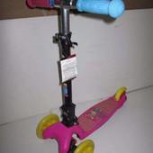 детский Самокат Explore Swift Scoo Junior, цвет розовый, регулируемая высота руля