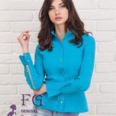 Рубашка с молниями на рукавах, 4 рассцветки