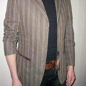 пиджак мужской спортивный коричневый в полоску