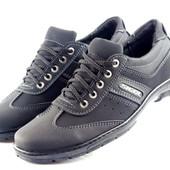 Спортивные туфли-кроссовки в черном цвете (К23)