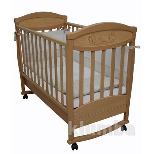 Детская кроватка Верес Соня ЛД4 бук Зайчик 04.3.01 фото №1