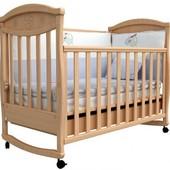 Детская кроватка Верес Соня ЛД4 бук Ромашка 04.2.01