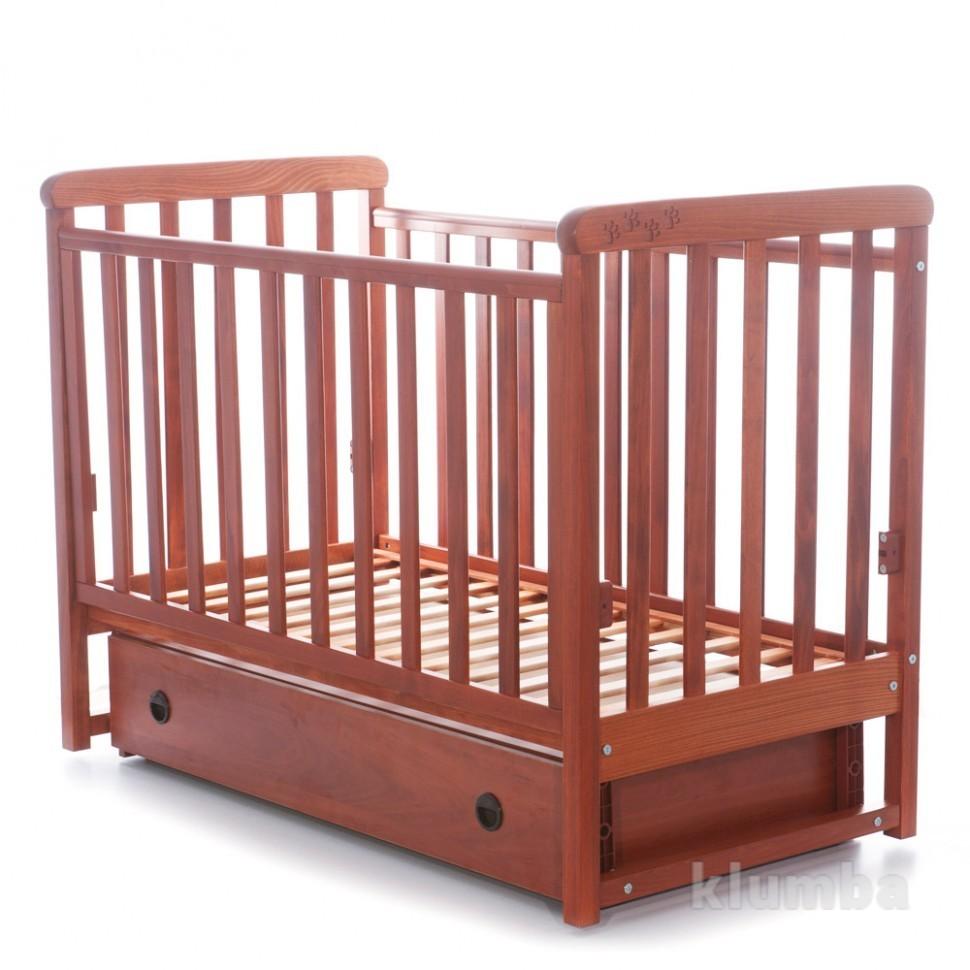 Детская кроватка Верес Соня ЛД12 маятник,ящик,лапки ольха 12.1.02 фото №1