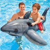 Надувная белая акула 173*107см для бассейнов и водоемов. Артикул 57525