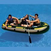 Надувная трехместная лодка Интекс, размер 287*119*42см. артикул 68349
