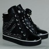 Kellaifeng (klf) арт.TJ215 черный Сникерсы/ Демисезонные ботинки для девочек. р. 32,33,34