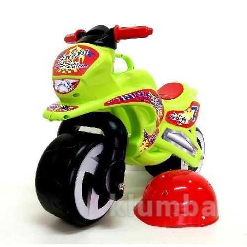 Каталка Мотоцикл с каской фото №1