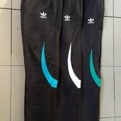 Штаны спортивные юниор , мужские Adidas зауженные.