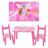 Cтолик Bambi 2547-36 с двумя стульчиками. WinX