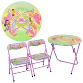 Столик детский + 2 стула, Bambi Феи DT 22-16 S2
