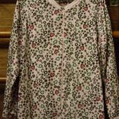 Флисовая пижама, женская, в сердечки,размер L, рост до 165 см