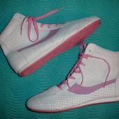 Фирменые Next кожаные высокие ботинки сникерсы кеды хайтопы 41 размер