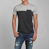 (2з) Двухцветная мужская футболка,S, M, L.