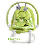 Шезлонг, для детей от 0 до 1 года, Tilly bt-bb-0004 Green