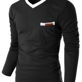 Мужской пуловер с карманом,S, M, L (2з