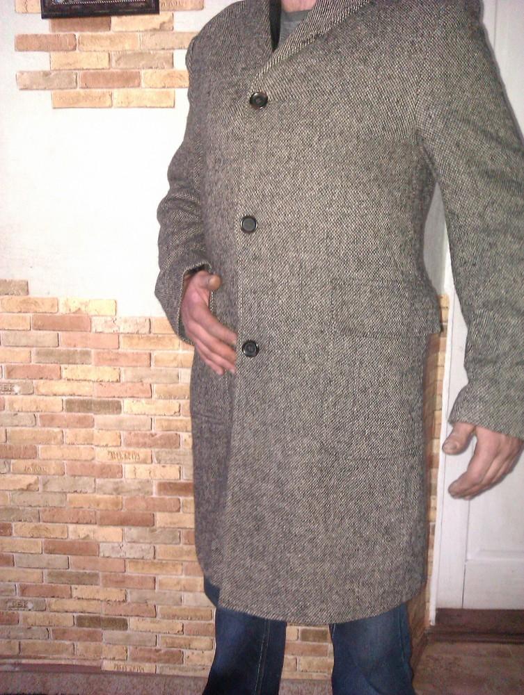 Класическое демисезонное фирменное мужское пальто Springfield фото №2