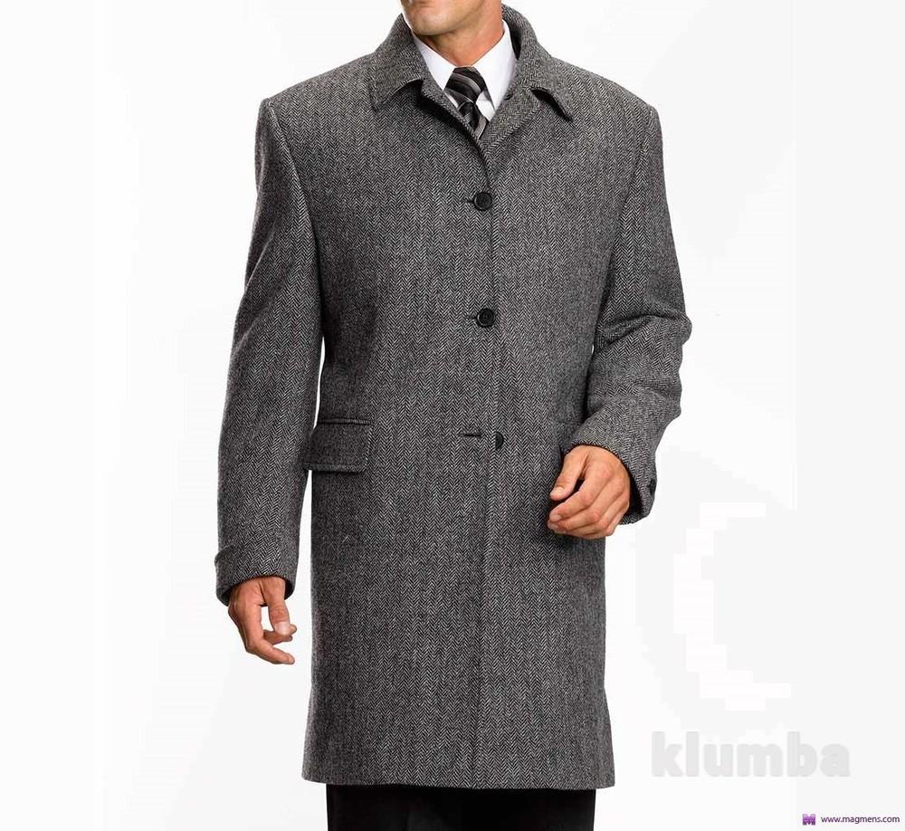 Класическое демисезонное фирменное мужское пальто Springfield фото №1