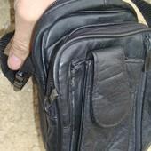 Фірмова шкіряна кожаная сумка сумочка .