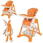 Стульчик для кормления, Bambi M 2430-7, цвет Оранжево-белый