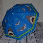 Зонтик зонт детский трость с яркими картинками Акула
