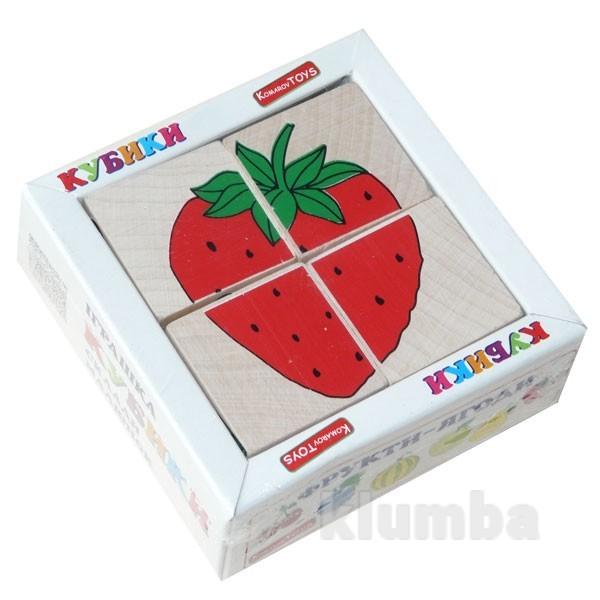Кубики «сложи рисунок: фрукты-ягоды», komarovtoys артикул: т 606 фото №1