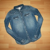 Рубашка джинс H&M на 14+ лет. (рост 170)