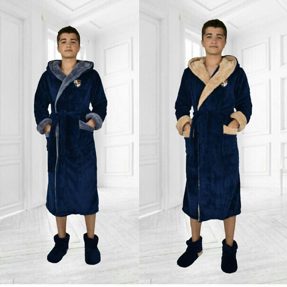 Подростковый махровый халат для мальчиков фото №1