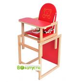 Стульчик-трансформер детский, Ommi Plus, цвет Red