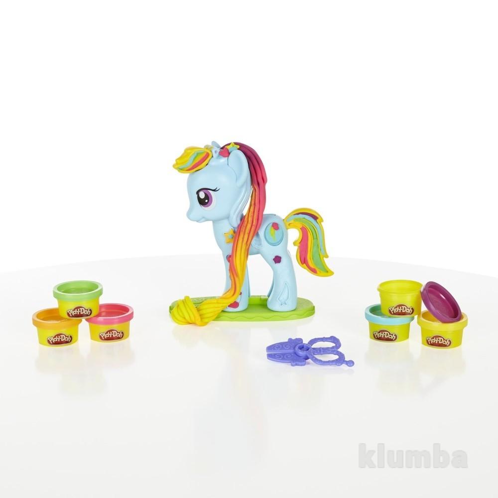 Play-doh my little pony rainbow dash style salon рейнбоу деш салон красоты фото №1