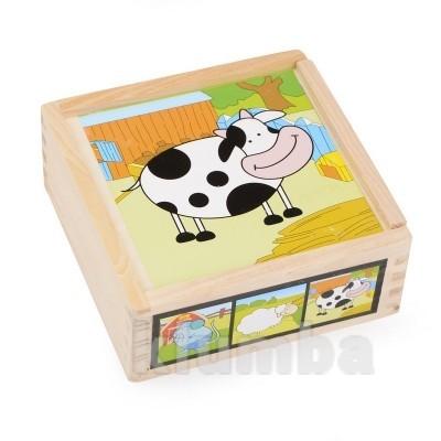 Набор кубиков «коровка», lelin артикул: 22-034 фото №1