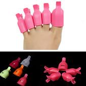 Зажимы для ногтей ног, снятие гель-лака с ногтей ног набор 5 шт.